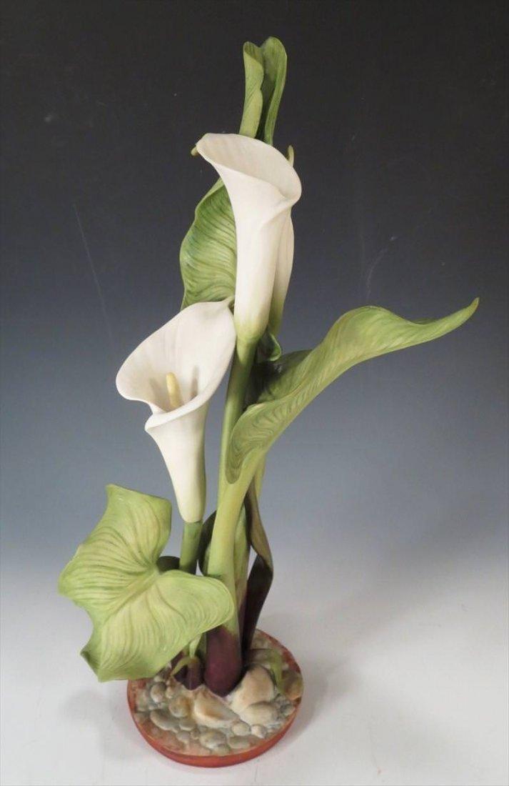 Cybis Porcelain Floral Group, 20th C. Calla Lily