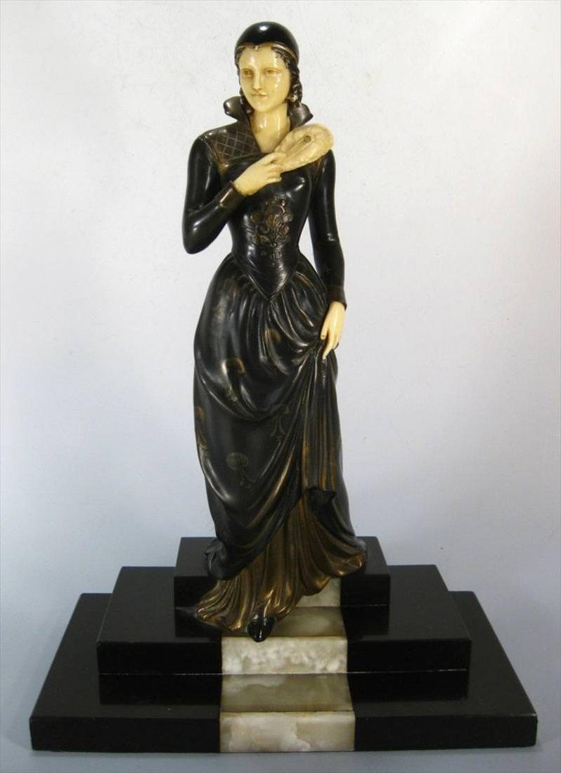 Menneville Art Deco Statue, c. 1920s