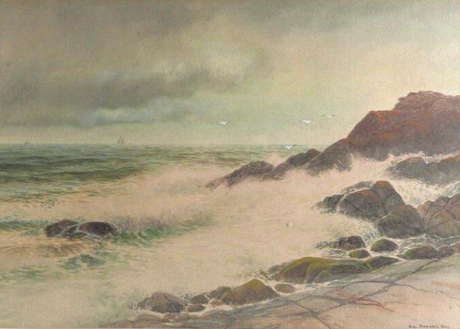 Geo. Howell Gay, Am., 1858-1931, Stormy Coast
