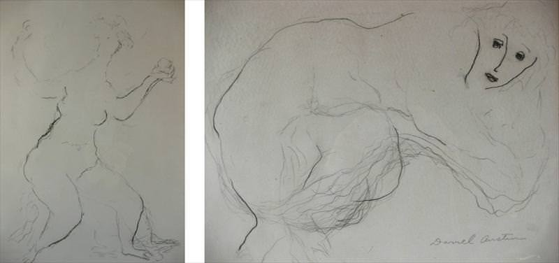 Darrel Austin, 1907-1994, Drawings of Female Nudes