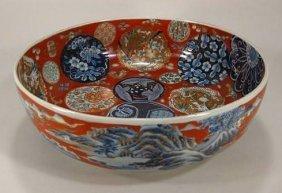 Japanese Imari Porcelain bowl, Late 19th C.