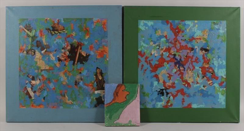 Robert Blaine, 1916-1993, Two Abstract Collages