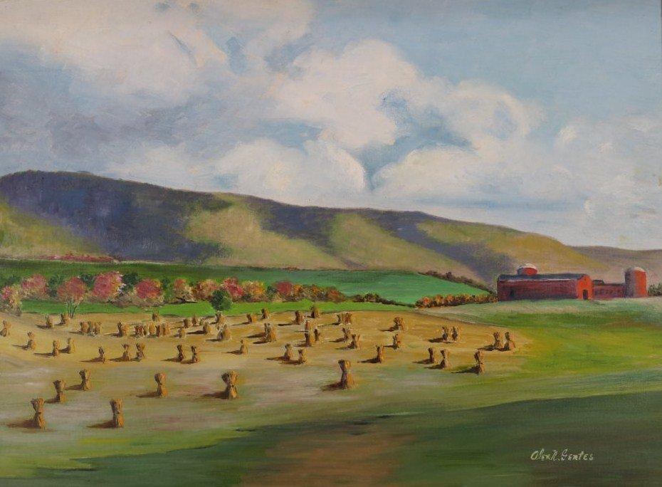 "Alex R. Gertes, ""Cornfields, Millerton, NY"", 20/21 C."