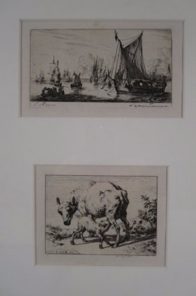 Charles Meryon, French, 1821-1868, Two Etchings, 1861