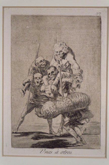 """Francisco Goya, 1746-1828, """"Unos a otros"""", 1799"""