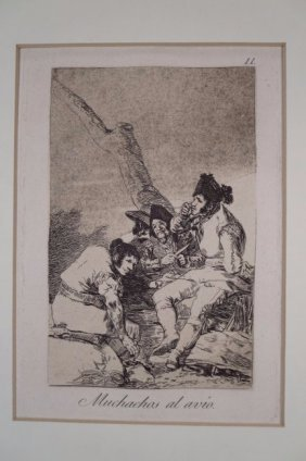 "Francisco Goya, 1746-1828, ""Muchachos al avo"""