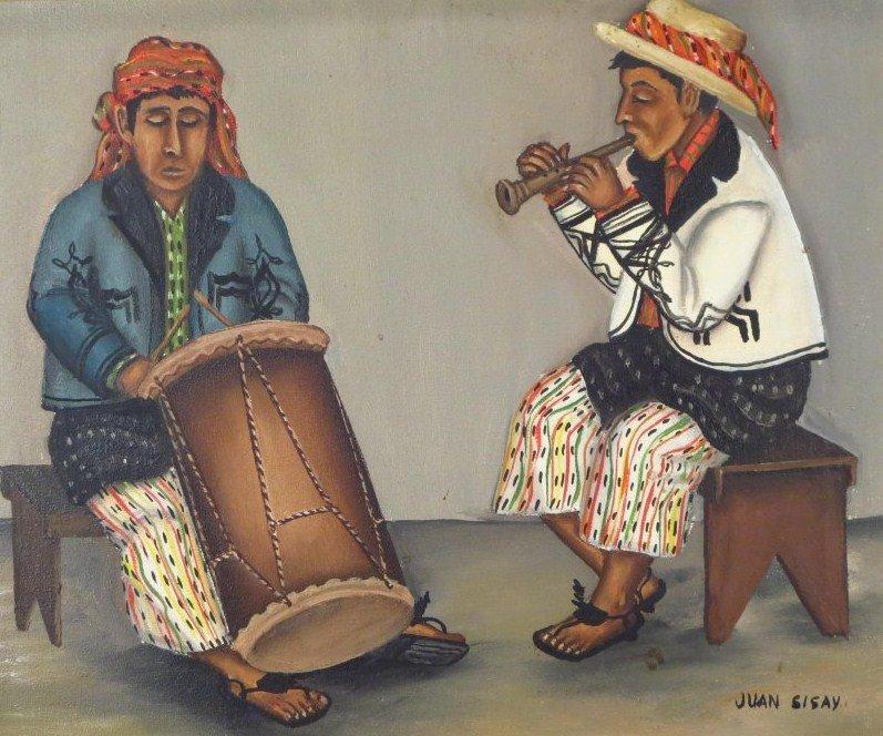 Juan Sisay, Guatemalan, 2 paintings, o/c (2 pcs.) - 2
