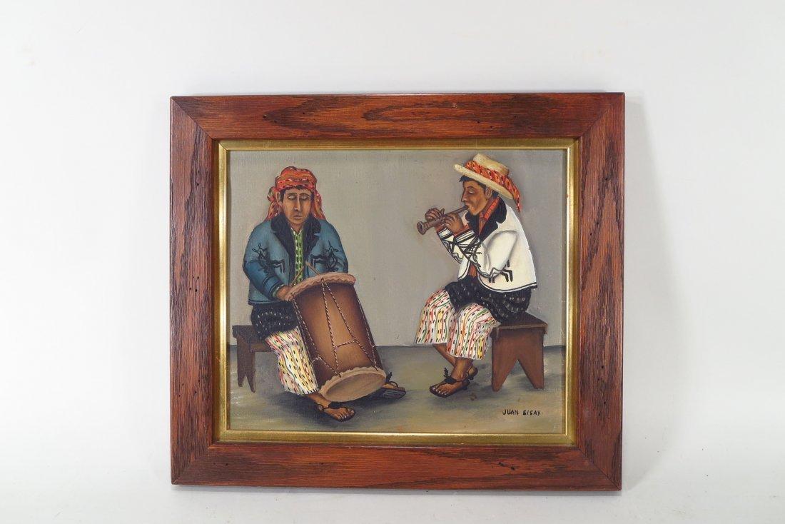 Juan Sisay, Guatemalan, 2 paintings, o/c (2 pcs.) - 3