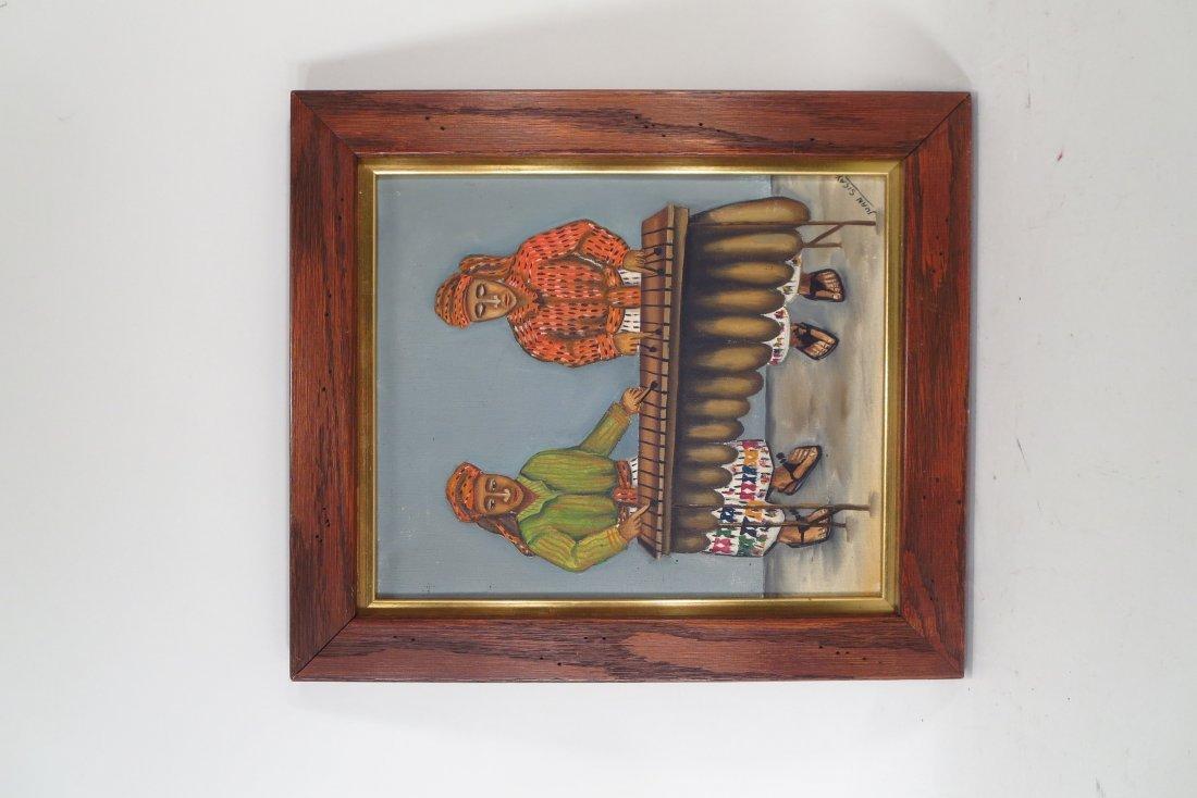 Juan Sisay, Guatemalan, 2 paintings, o/c (2 pcs.) - 4