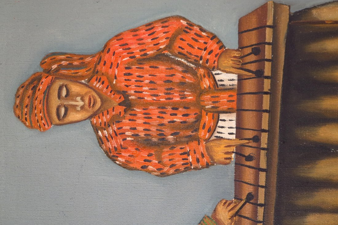 Juan Sisay, Guatemalan, 2 paintings, o/c (2 pcs.) - 5