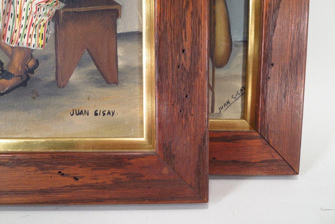 Juan Sisay, Guatemalan, 2 paintings, o/c (2 pcs.) - 7