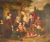 19th C Manner of David Wilkie oil on board