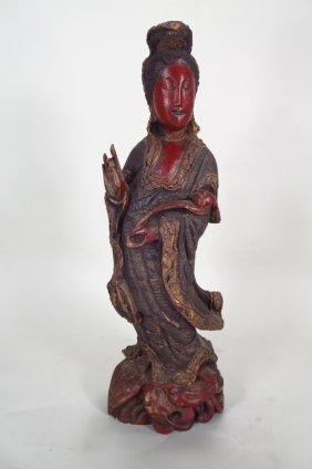 Quan Yin Standing Figure, 19th C.