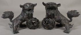 Pr Foo Lion Dogs, SE Asian, 19th/20th c