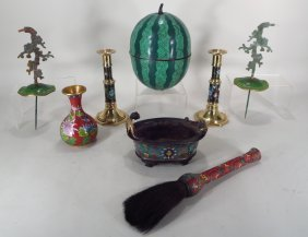 Group of Cloisonne, Asian, 20th C.