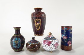 Cloisonne Vases & Urns, Chinese, 19th/20th C.