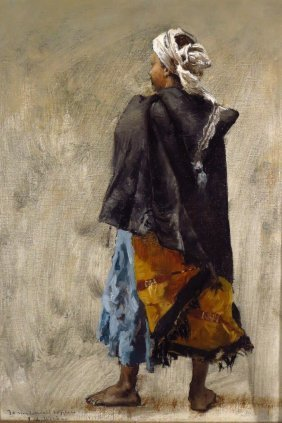Edwin Lord Weeks, Study of a Standing Man, o/c
