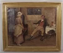 John Sanderson Wells Victorian Genre Scene oc