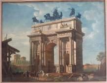 Giovanni Migliara Arco dell Pace 19th c engr