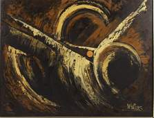 20th C. Abstract, Oil on Canvas, Signed ÒWintersÓ
