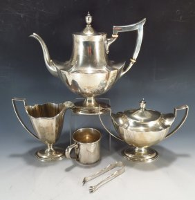 Gorham Sterling Silver Tea Svc. & Other Items