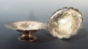 Mappin & Webb Sterling Nut Dishes, English, c. 1930