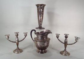 Four Sterling Silver articles, American, 20th C.