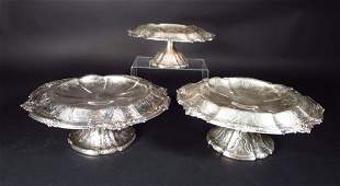 3 Sterling Silver Tazzis American 19th20th C