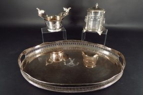 3 Silverplate Pieces, 20th c
