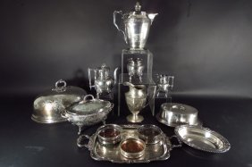 Grp of Am./Eng. Vintage Silverplate Serving Pcs.