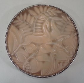 Art Deco Sterling and Celluloid Compact, 1920's