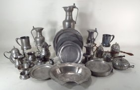 Assembled Collection of Pewter, 18th-20th c
