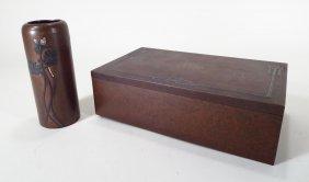 Heintz Sterling-on-Bronze Arts and Crafts Box