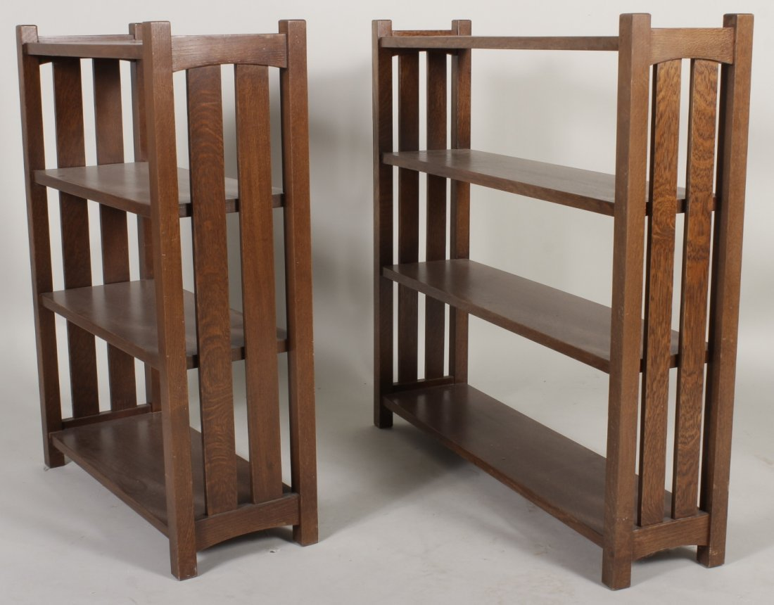 2 Arts / Crafts Stickley Style Bookcases, 20th C.
