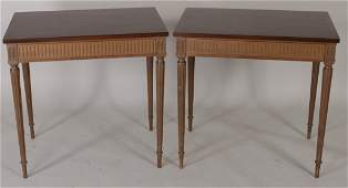 Pr Beacon Hill Mahogany Tables 20th C