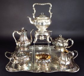 Gorham Sterling Silver 7 pc Tea Set & Tray