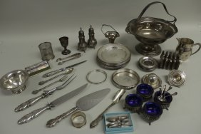 Sterling Silver and Silverplate Assorted Tableware