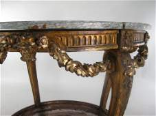 Louis XV Style Marble Topped Table E 20th C