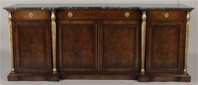 Regency Style Marble Top Sideboard