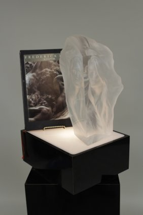 Acrylic Sculpture by Frederick Hart w/ Book