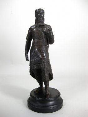 Bronze Statue of Ruler with Sword, Early 20th C.