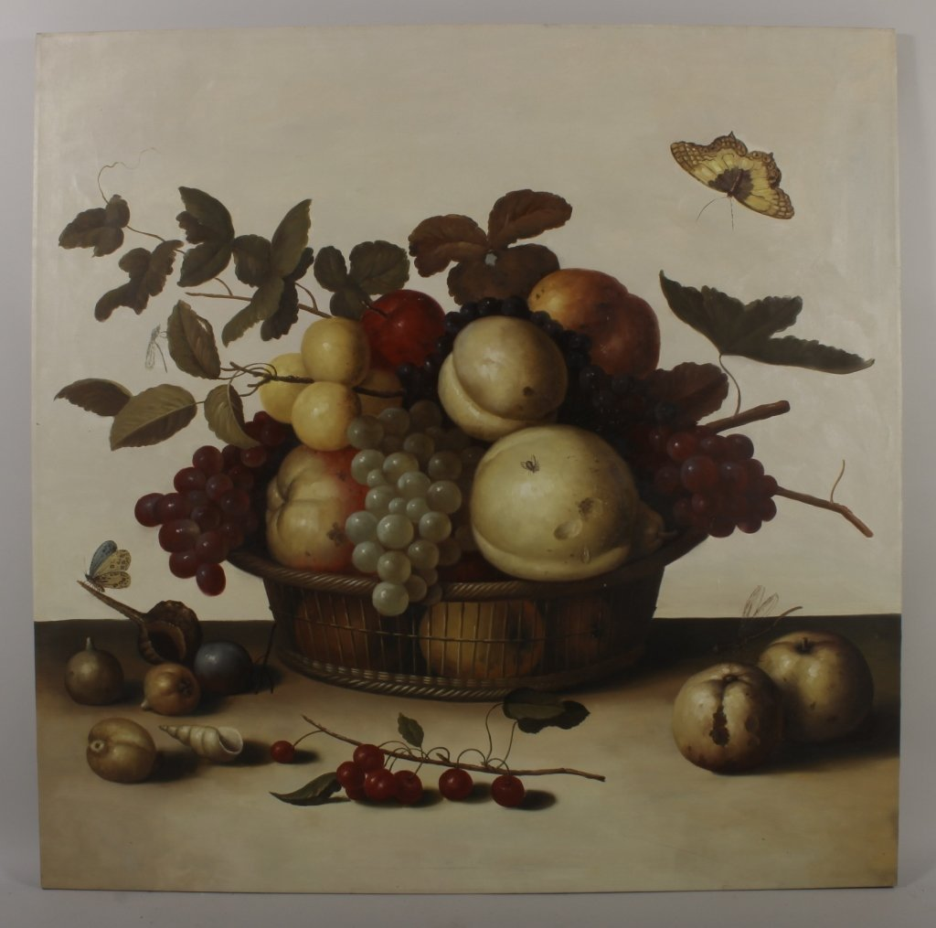 "After Balthasar van Alst, ""Fruit Basket"", o/c"
