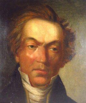 19th century American School, Portrait of a Man