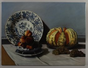 After Claude Monet, Still Life with Melon (1872),