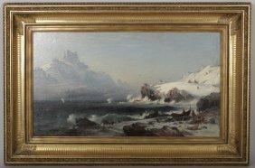 Albert Berg, Swedish, 1832-1916,  Arctic Fishermen