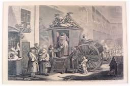 William Hogarth Satirical Print etching engraving