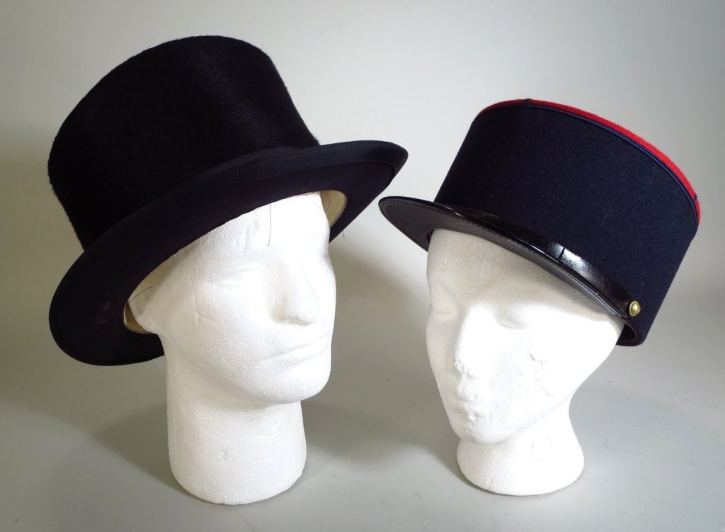 Vintage Top Hat and a French Cap