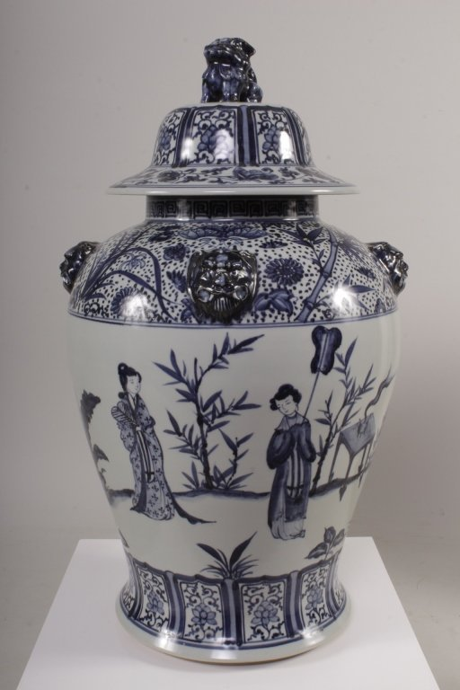 Large Blue and White Ginger Jar, 20th C.