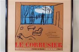Original Poster for Le Corbusier Exhibition 1966