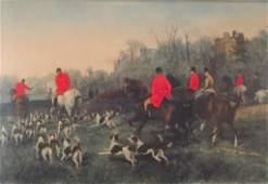 Pair of Fox Hunting Scenes English 19th C